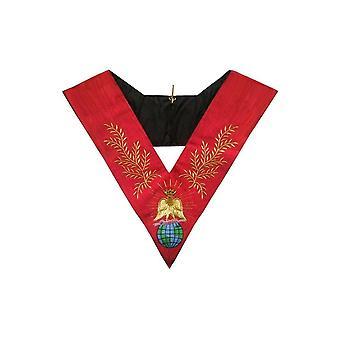 Masonic officer's collar – grand chapitre général – libertas – 4ème ordre – très sage et parfait maître