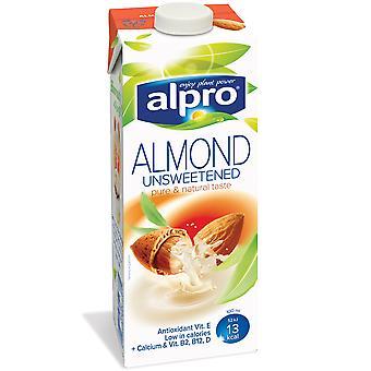 Alpro Unsweetened Almond Milk Cartons