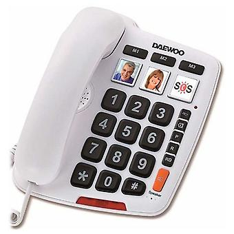 Landline for the Elderly Daewoo DTC-760 LED White