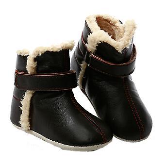 SKEANIE Pre-walker Baby & Toddler SNUG Stivali in Chocolate Brown