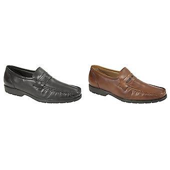 Roamers Mens Memory Foam Moccasin Slip On Shoes