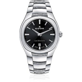 Edox - Wristwatch - Ladies - Les Bémonts - Ultra Slim Date - 57004 3 NIN
