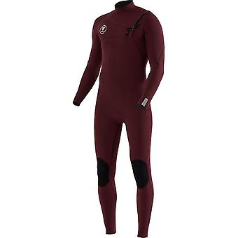 Vissla 7 hav 3/2 full dress bryst glidelås - bordeaux