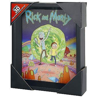 Rick e Morty incorniciato 3D foto