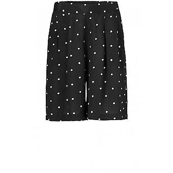 Masai Clothing Para Black Spot Print Shorts