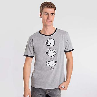 Invigo de camiseta de rocha cinza