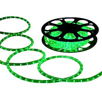 DELight 150 FT Green 2 Wire LED Rope Light Indoor Outdoor Home Holiday Valentines Party Restaurant Cafe Decoration