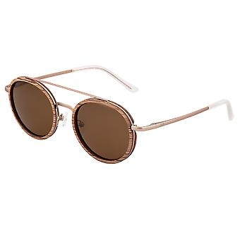Earth Wood Binz Polarized Sunglasses - Babinga/Brown