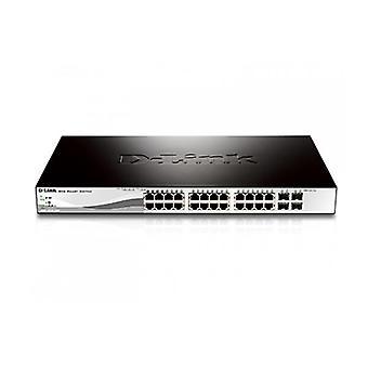 Dlink Dgs121028P 28 Port Gigabit Websmart Poe Switch With 28 Rj45