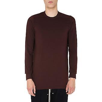 Rick Owens Ru20f3266ja44 Men's Burgundy Cotton Sweater