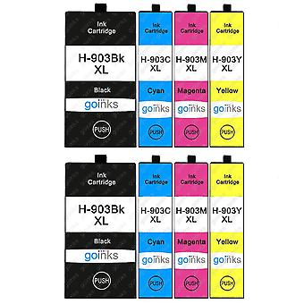 2 Go Inks Set of 4 Printer Ink Cartridges to replace HP 903 (XL Capacity) Compatible / non-OEM for HP Officejet Printers (8 Inks)