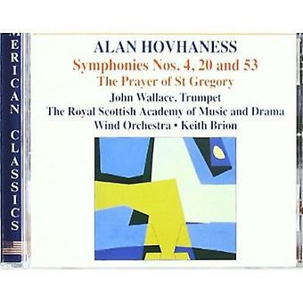 A. Hovhaness - Hovhaness: Symphonies Nos. 4, 20 & 53; the Prayer of st. Gregory [CD] USA import