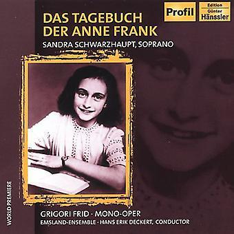 G. Fried - Das Tagebuch Der Anne Frank [CD] USA import