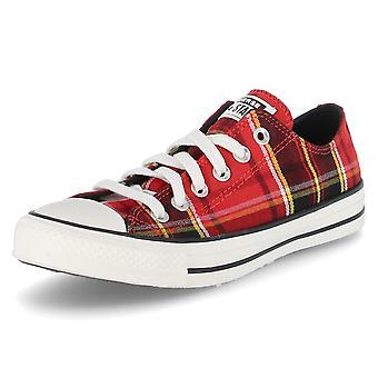 Converse Low Ctas OX 568926CUNIVERSITYREDBLACKEGRET   unisex shoes