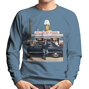 The Saturday Evening Post Ice Cream Police Men's Sweatshirt