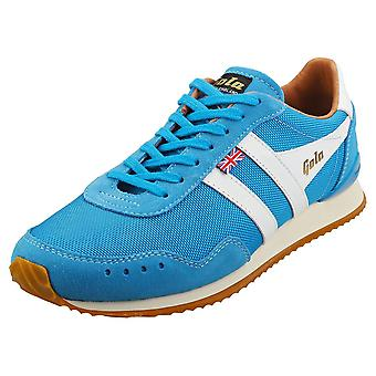 Gola Track 317 -made In England- Mens Casual Trainers in Blauw Wit