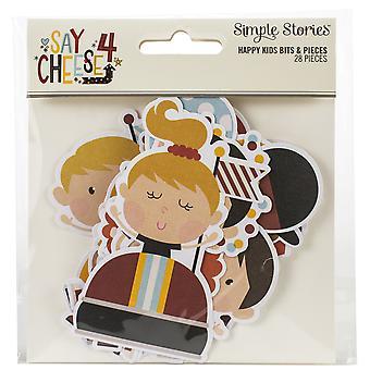 Say Cheese 4 Happy Kids Bits & Pieces Die-Cuts 28/Pkg-