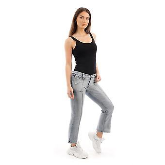 Bleach Kick Flare Jeans Cropped Bootcut Jeans