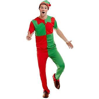 Elf Kostuum Volwassene Groen / Rood