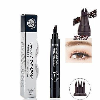 Eyebrow Pencil Tattoo Pen Waterproof, Natural Four Claw Makeup