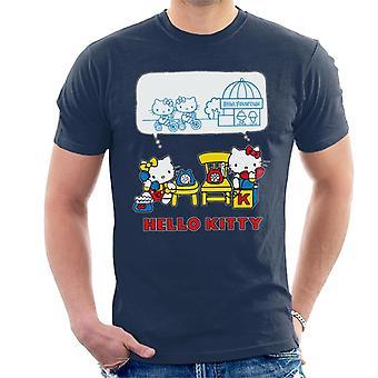 Hello Kitty ja Mimmy Soda Fountain Chat Miehet&s T-paita
