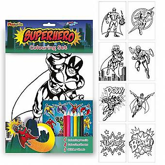 Colouring Activity Fun Pack for Kids - Superheros
