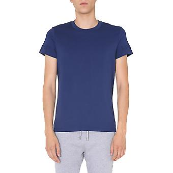 Balmain Uh11601i3376ub Män's Blue Cotton T-shirt