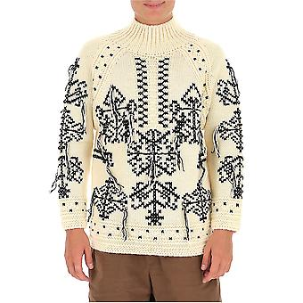 Etro 1n34379110991 Herren's weiße Wolle Pullover