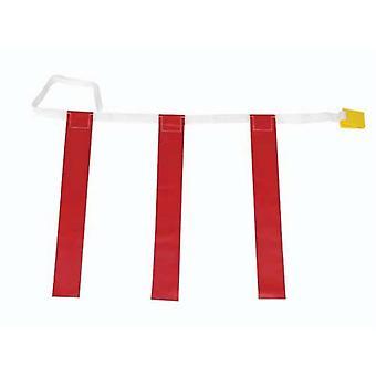 """FB342P, 25""""-31"""" Cinturones de tres banderas - Amarillo"""