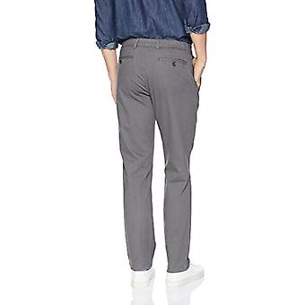 Essentials Men's Straight-Fit Casual Stretch Khaki, Dunkelgrau, 34W x 32L