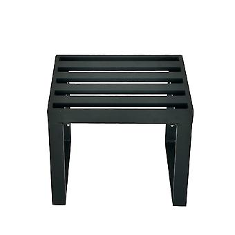 Charles Bentley Black Square Legs Strong Extrusion Aluminium Stool with 5cm Thick Cushion Polyester industrial Style