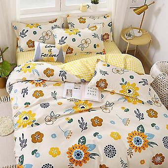 Simple Bedding With Pillow Case Duvet Cover - Double Queen King Size Quilt