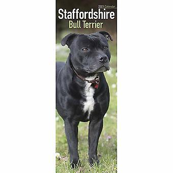 Otter House 2021 Slim Calendar-staffordshire Bull Terrier