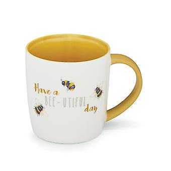 Cooksmart Bumble Bees Barrel Mug, Bee-utiful Day