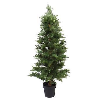 130cm Artificial Cedar Cypress Artificial Bushy Topiary Tree UV Protected