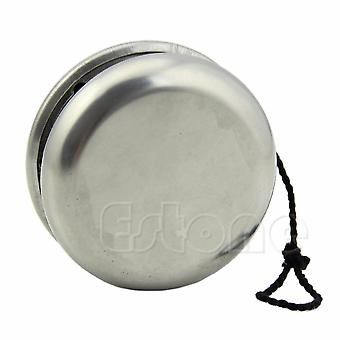 Professional Magic Stainless Steel Silver Round Yo-yo Ball Toys With String - Gift For Beginners And Advanced Users