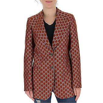 Gucci 626559zad7l2086 Damen's Braune Wolle Blazer