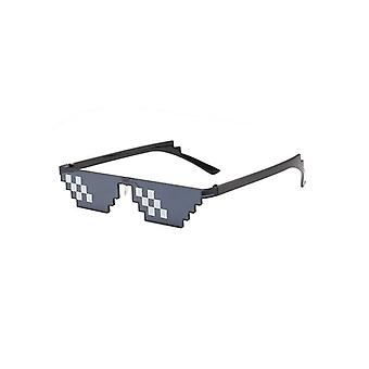 Fashion Cool Pixel Grid Sunglasses Deal With It Kids Cosplay Action Game Toys,