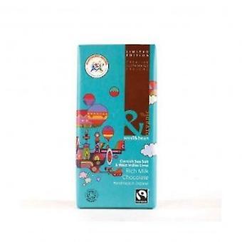 Organic Seed & Bean - Seasalt Tropical Lime Milk Chocolate 85g x 8