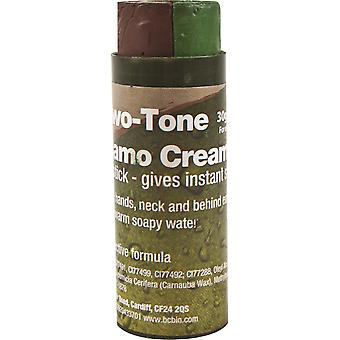 BCB To Tone Camo Face Cream (30g) - Brun og grøn