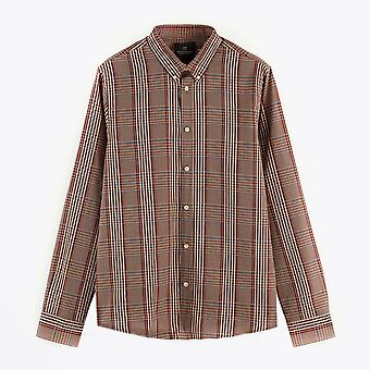 Scotch & Soda  - Cotton-Blend Yarn Detail Shirt - Brown