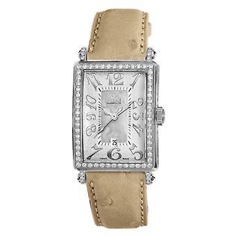 Gevril Women's Avenue of America 6409NV Diamond Leather Swiss Quartz Date Watch