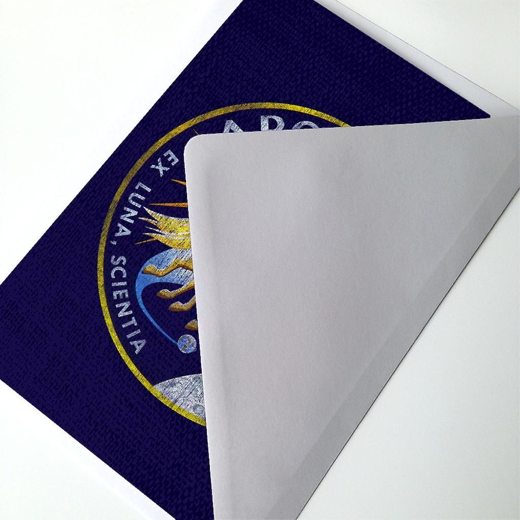 nasa apollo 13 mission badge distressed greeting card