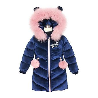 Thicken Winter Hooded Jacket For Girls Outwear