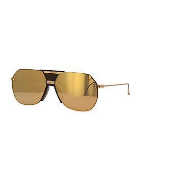 Bottega Veneta BV1068S 002 Óculos de Sol Gold/Gold Mirror