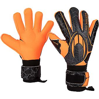 HO One Neg Robust Orange Shadow Goalkeeper Gloves Size