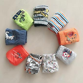 6/pcs's Underwear- Cotton Cartoon Printed Boxers