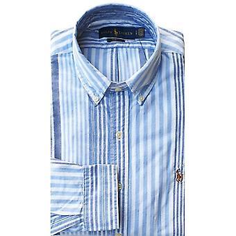 Ralph Lauren Polo Shirt Mens Multi Stripe Blauw Wit