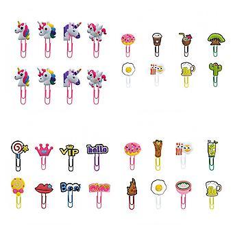 Animaux mignons/fleur/nourriture/plantes/licorne Forme Signet Paper Clips