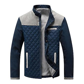 New Men's Cotton Lightweight Jacket Loose Stand Collar Top Windproof Jacket